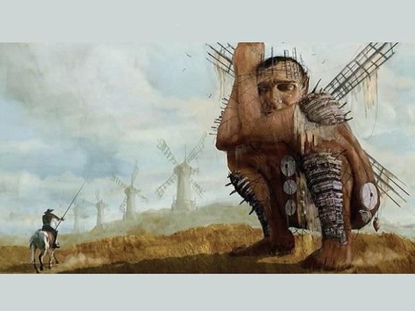 Don chisciotte e i mulini a vento